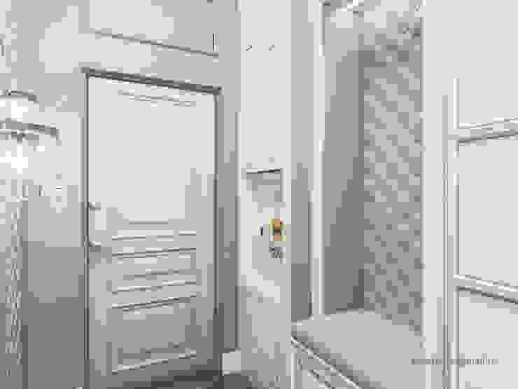 Квартира на Садовой, г. Москва lesadesign Коридор, прихожая и лестница в классическом стиле Белый