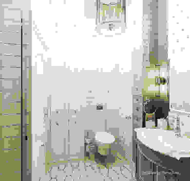 Квартира на Садовой, г. Москва lesadesign Ванная в классическом стиле Керамика Белый