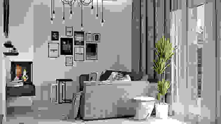 Дизайн проект Дуплексу в Скандинавському стилі в с. Гатне (137 кв. м) Artlike Вітальня
