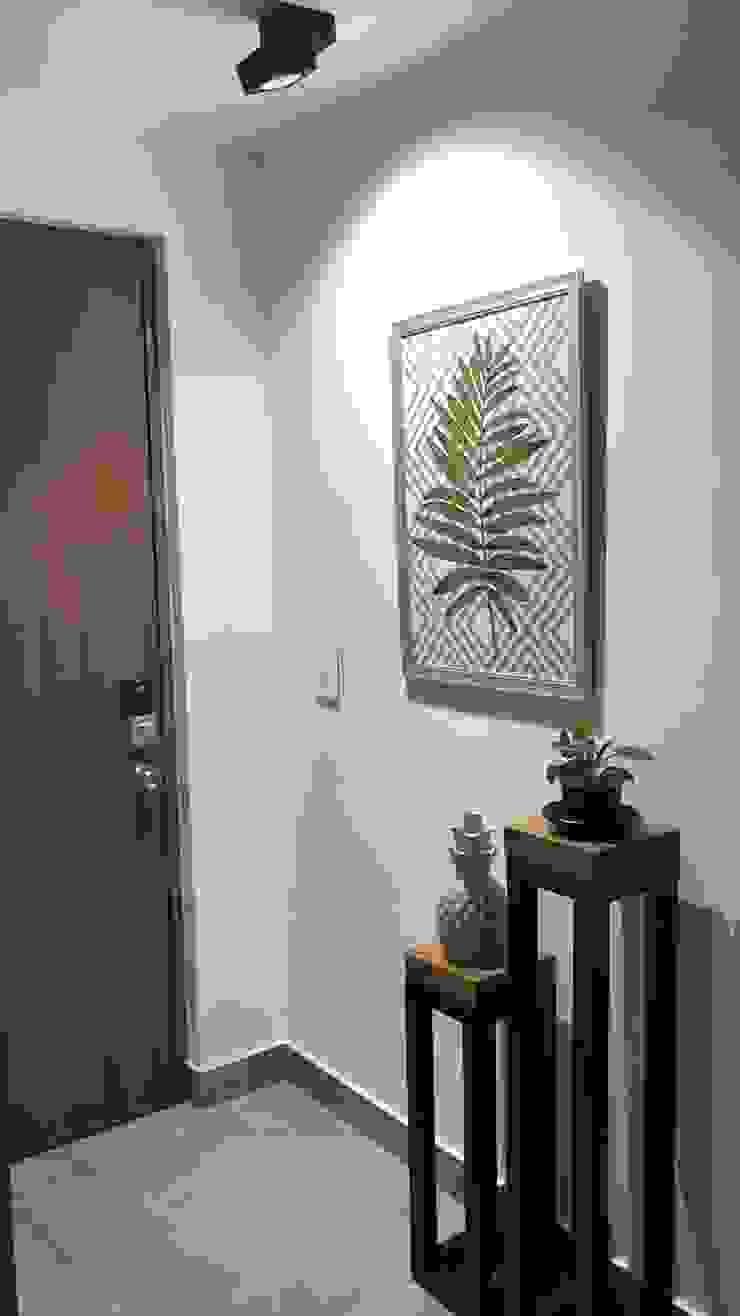 Ingreso Apartamento Paredes y pisos de estilo ecléctico de ea interiorismo Ecléctico
