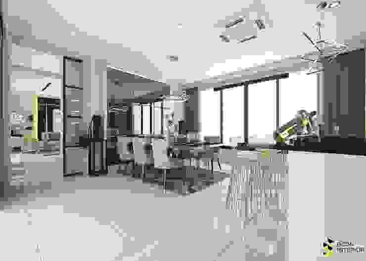 ผลงานการออกแบบตกแต่งภายในบ้านพักอาศัย: ทันสมัย  โดย Bcon Interior, โมเดิร์น