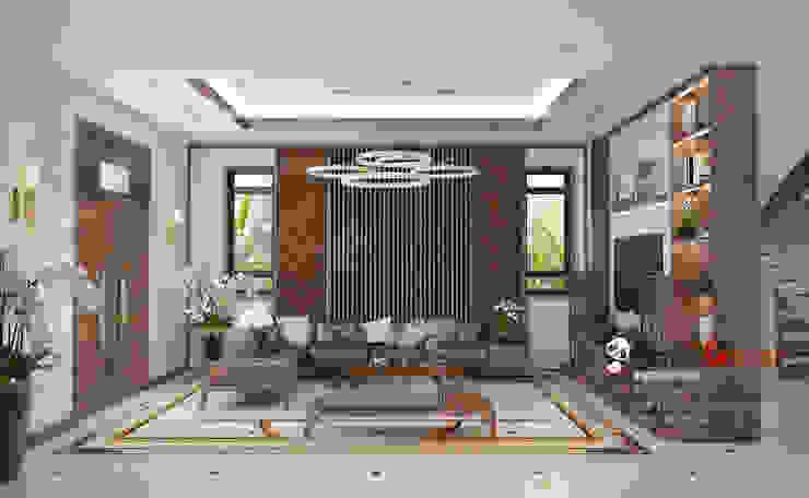 Thiết kế thi công nội thất gỗ óc chó tại chung cư : hiện đại  by Nội thất cao cấp maxxDecor, Hiện đại