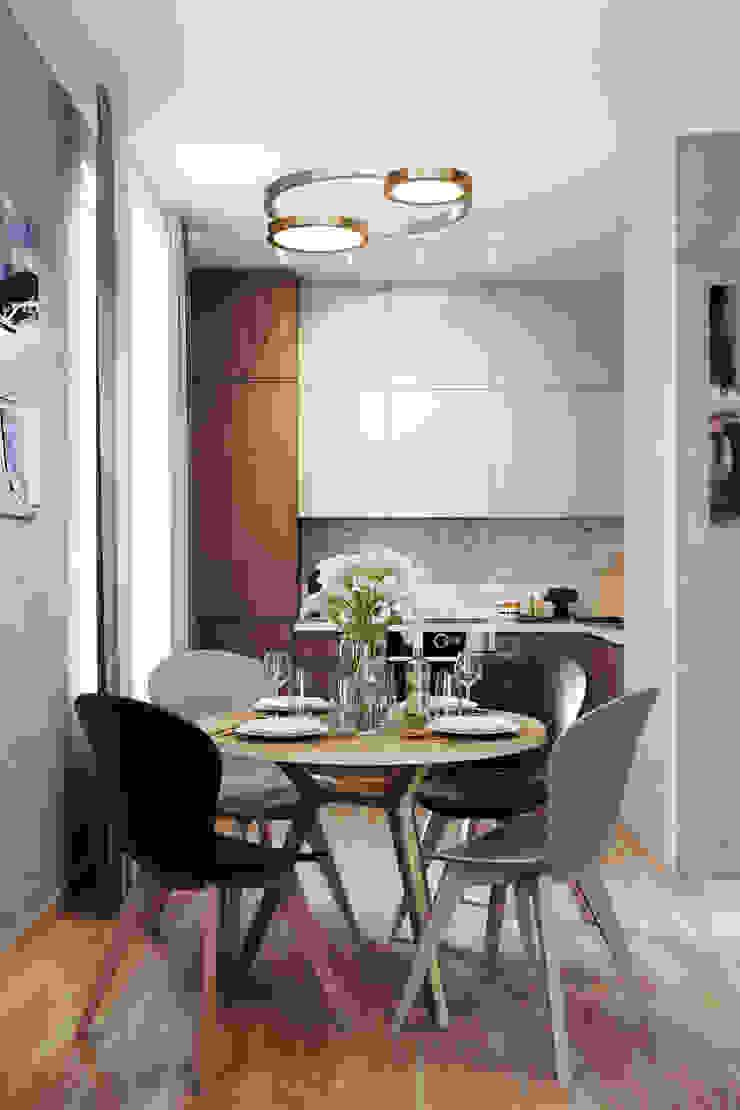 Salon minimaliste par Студия архитектуры и дизайна Дарьи Ельниковой Minimaliste