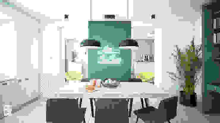 NA NO WO ARCHITEKCI Minimalist dining room