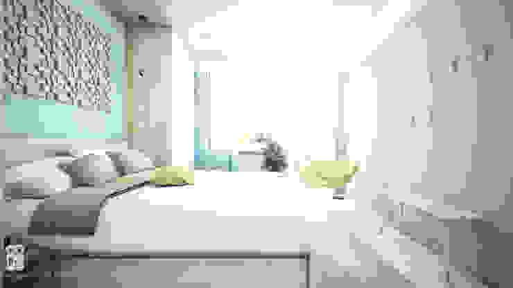NA NO WO ARCHITEKCI Minimalist bedroom