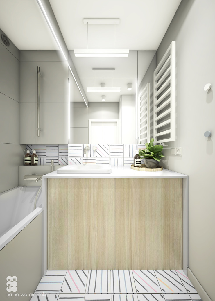 NA NO WO ARCHITEKCI Minimalist style bathroom