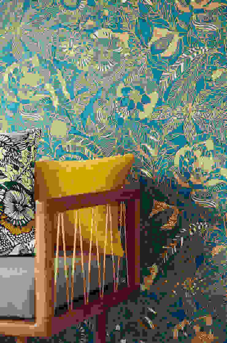 TapetenStudio.de Paredes y pisos de estilo moderno Azul