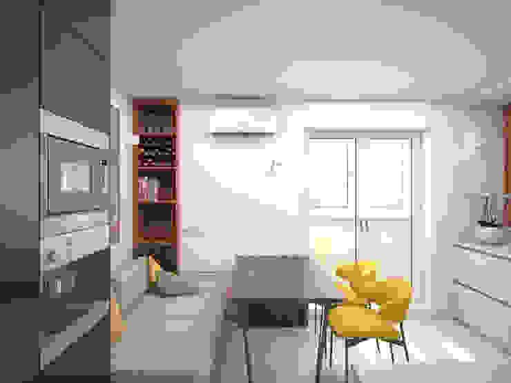 Кухня Кухня в стиле минимализм от ekovaleva.prodesign Минимализм