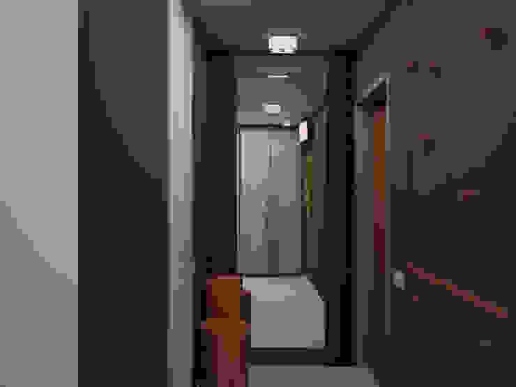 Прихожая Коридор, прихожая и лестница в стиле минимализм от ekovaleva.prodesign Минимализм