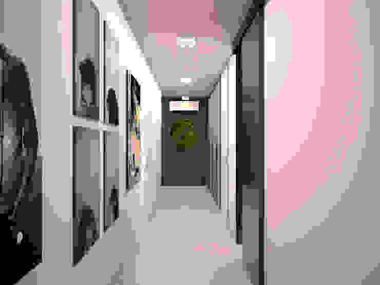 Коридор Коридор, прихожая и лестница в стиле минимализм от ekovaleva.prodesign Минимализм