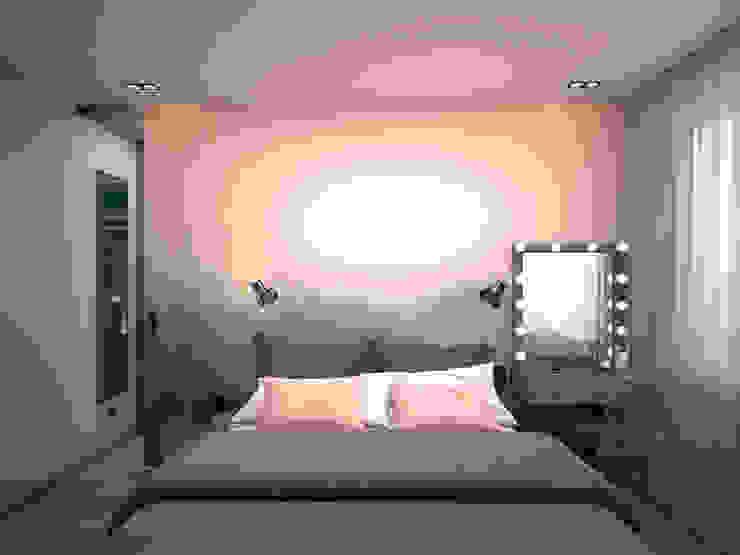 Спальня Спальня в стиле минимализм от ekovaleva.prodesign Минимализм