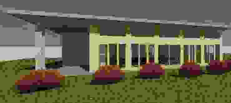 Render fachada Casas de estilo rústico de Constructora Alonso Spa Rústico