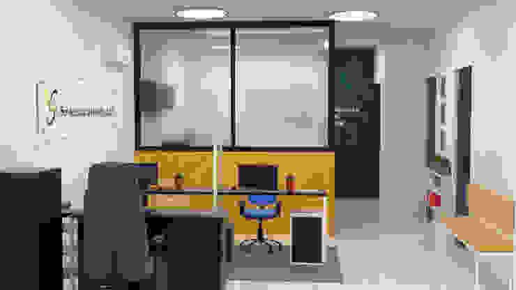 Diseño de oficina servi logística del pacifico. de Magrev Minimalista