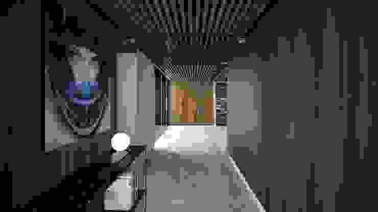 Corredores, halls e escadas modernos por FM ARQUITECTOS Moderno Mármore