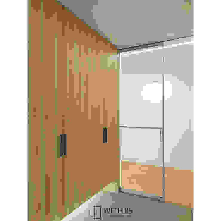 ALU-SD, 1SD(슬라이딩도어1, 상하부구동형) 모던스타일 복도, 현관 & 계단 by WITHJIS(위드지스) 모던 알루미늄 / 아연