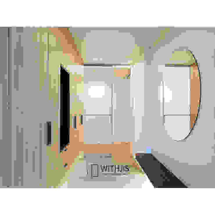 Коридор, прихожая и лестница в модерн стиле от WITHJIS(위드지스) Модерн Алюминий / Цинк