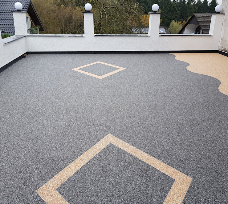 Terrassenbelag aus Marmor Steinteppich Moderner Balkon, Veranda & Terrasse von Steinteppich der Balkon & Terrassenbelag deutschlandweit Modern Stein