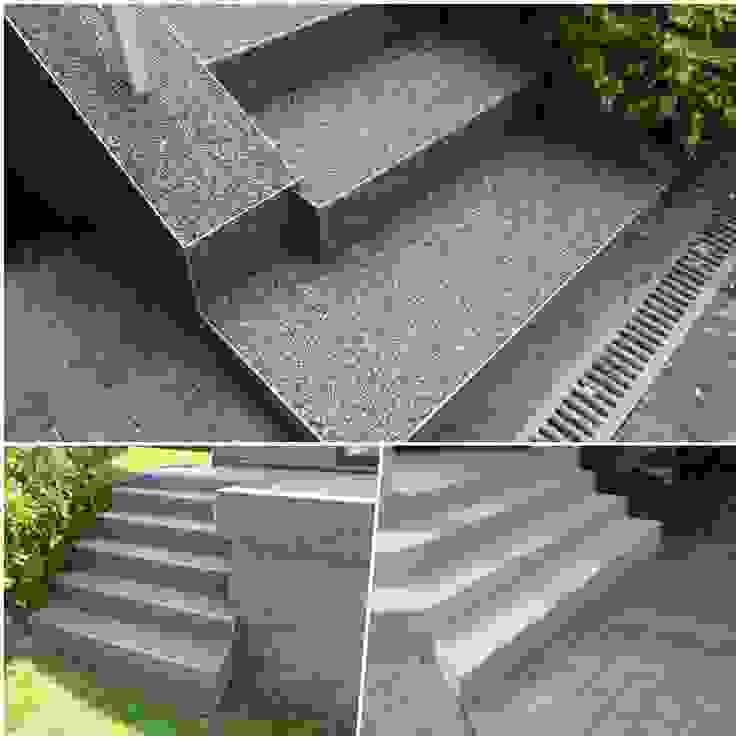 Treppenrenovierung mit einem Steinteppich von Steinteppich der Balkon & Terrassenbelag deutschlandweit Mediterran Stein