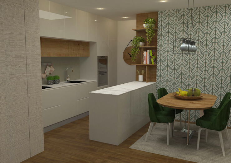 Built-in kitchens by Casactiva Interiores,