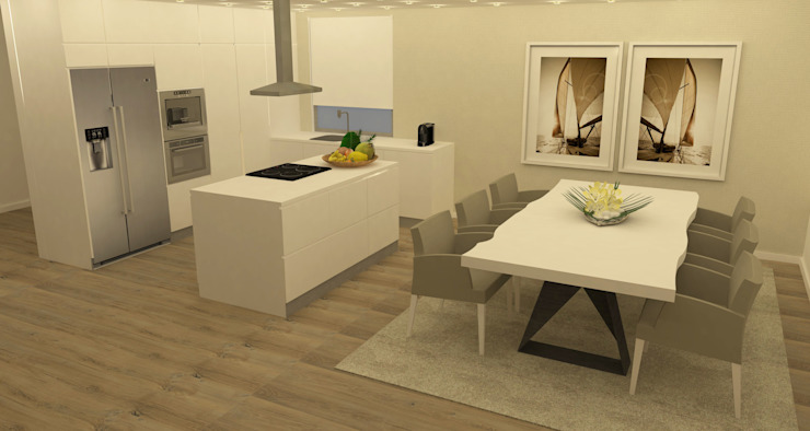 Kitchen units by Casactiva Interiores,