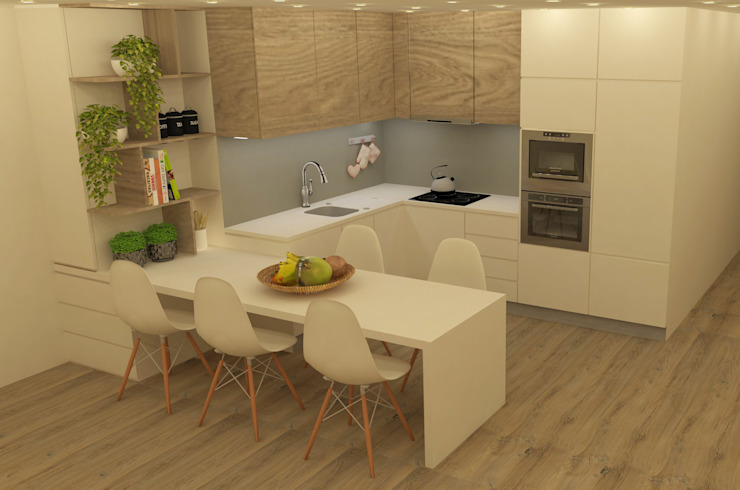Small kitchens by Casactiva Interiores,