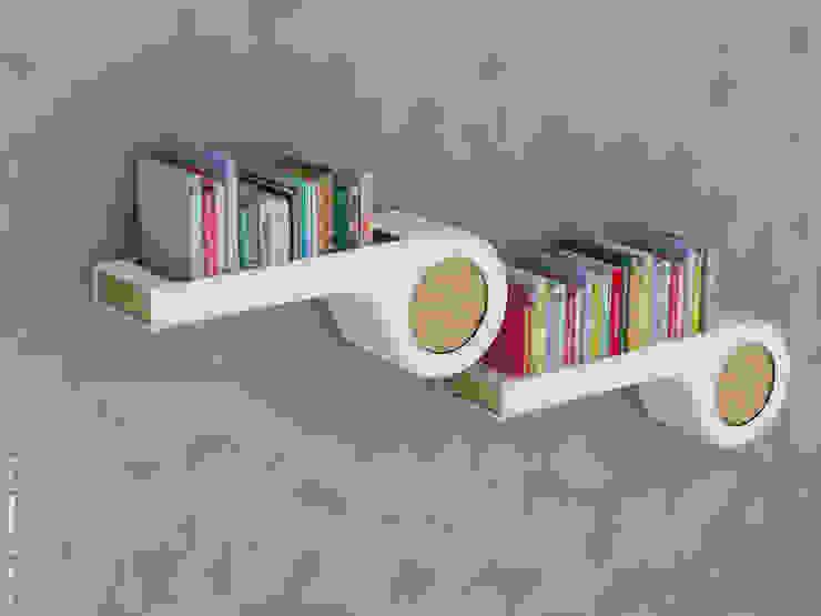 Whistle bookshelf: modern  by Preetham  Interior Designer,Modern