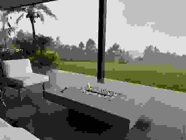 Chimenea de exterior Balcones y terrazas de estilo moderno de Hogares Inteligentes Moderno