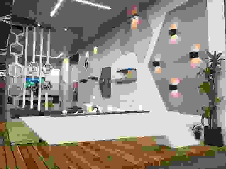 Chimenea de interior Salas de estilo moderno de Hogares Inteligentes Moderno