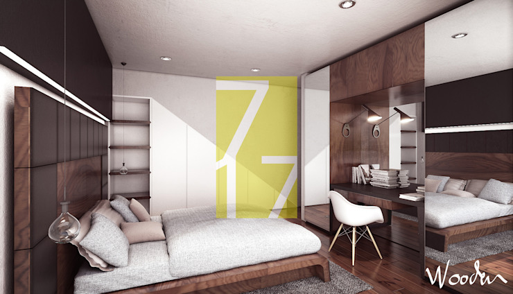 Modern style bedroom by 7-17 ARQUITECTOS Modern Wood Wood effect
