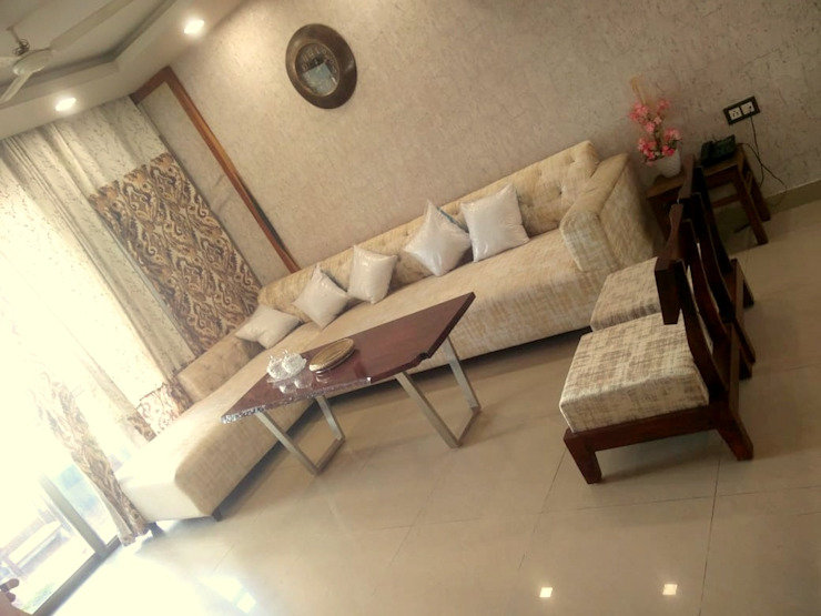 Living room with warm colors theme Shape Interiors Living room Beige