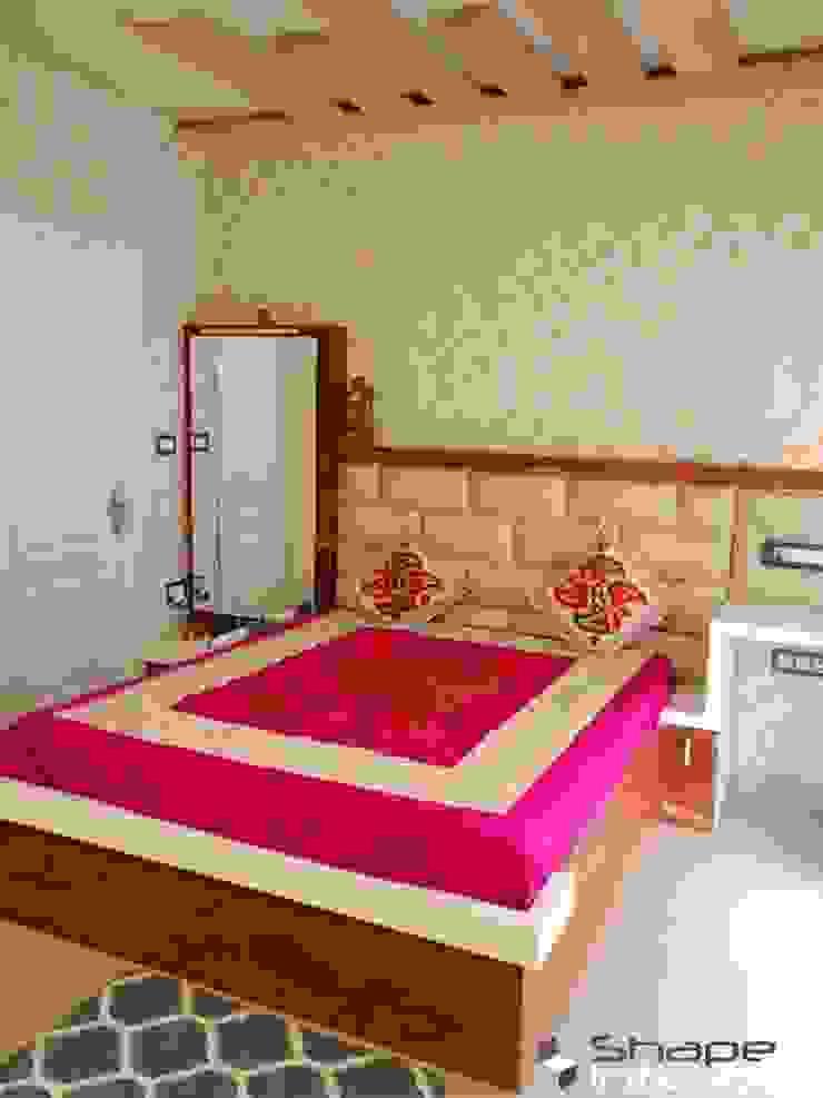 Master bedroom Shape Interiors Small bedroom Wood Beige