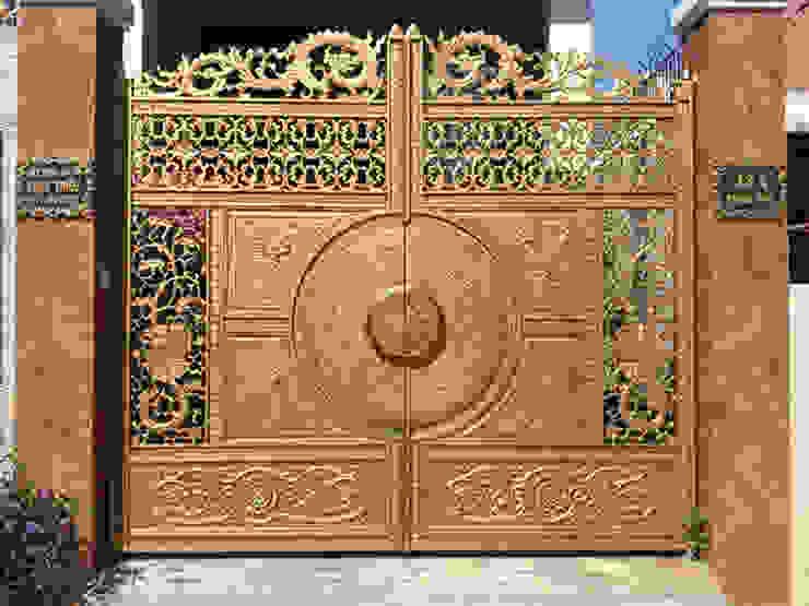 Cổng nhôm đúc trống đồng: cổ điển  by Công ty TNHH Asuzac miền Bắc, Kinh điển Đá hoa