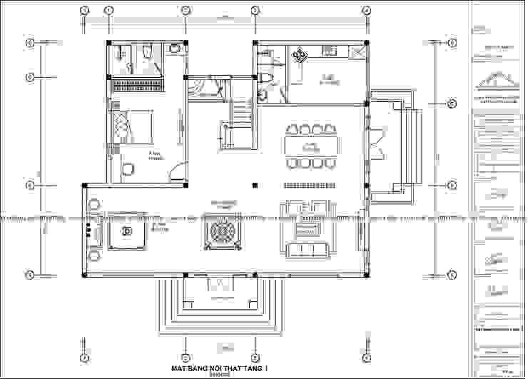 Biệt thự vườn đẳng cấp đáp ứng được mọi nhu cầu của gia chủ bởi Công ty CP kiến trúc và xây dựng Eco Home