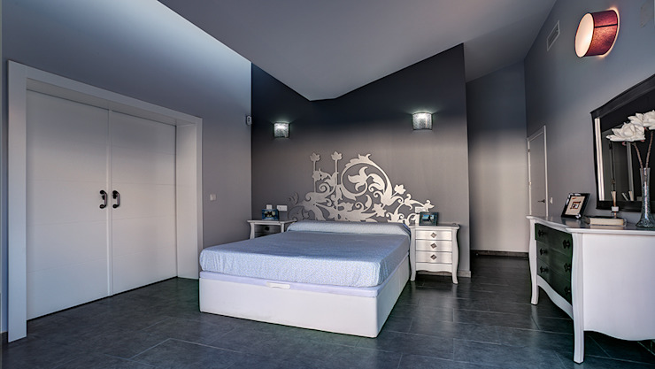 OOIIO Arquitectura Modern style bedroom Engineered Wood Grey