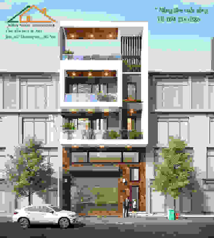 Mẫu nhà mặt phố phù hợp cho các hộ kinh doanh bởi Công ty CP kiến trúc và xây dựng Eco Home