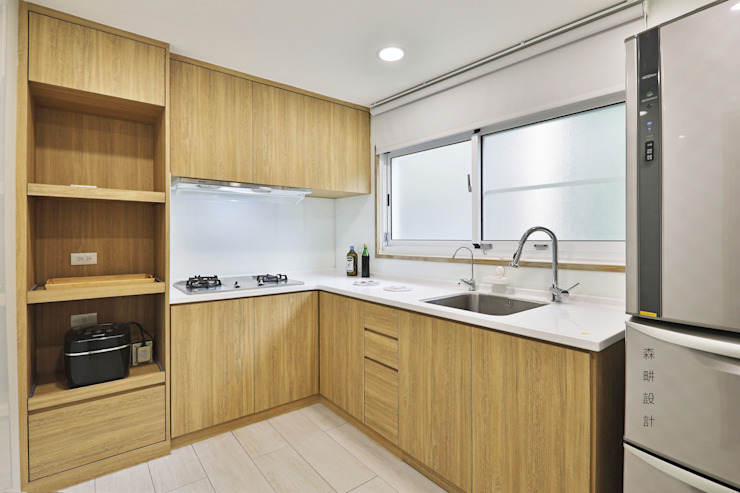 無印風格 廚房 根據 森畊空間設計 簡約風 塑木複合材料