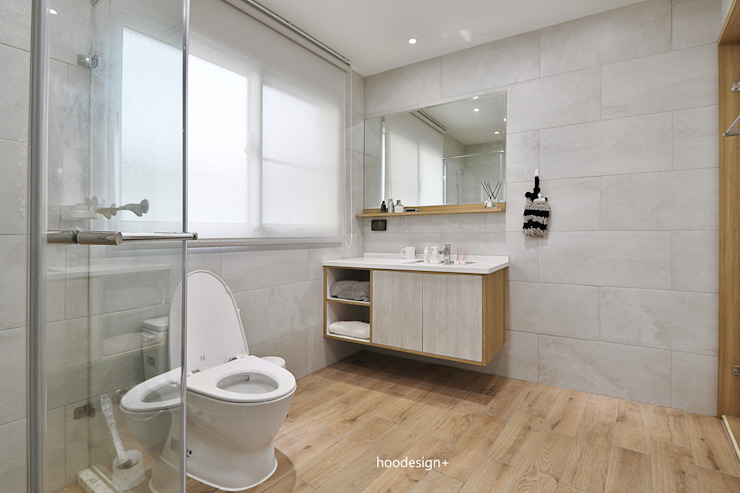 簡約木質浴室空間 根據 森畊空間設計 簡約風 石英
