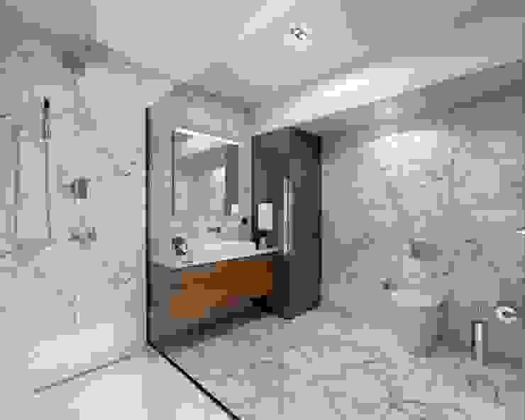 Baños modernos de Orby İnşaat Mimarlık Moderno Granito
