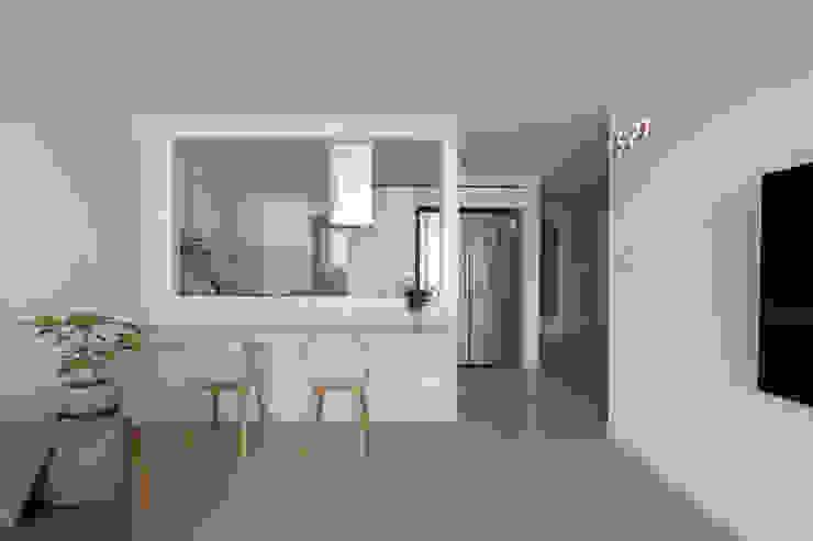도화 현대 29평 아파트 인테리어 모던스타일 거실 by 카멜레온디자인 모던