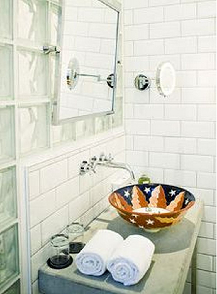 Cerames Colonial style bathrooms Ceramic White