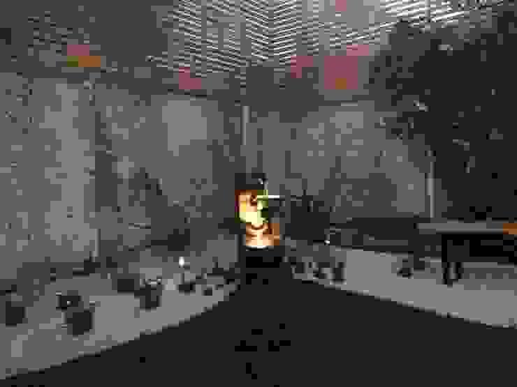 ILUMINACIÓN JARDIN FUENTE HZ ARQUITECTOS SANTIAGO DISEÑO COCINAS JARDINES PAISAJISMO REMODELACIONES OBRA Jardines de estilo minimalista
