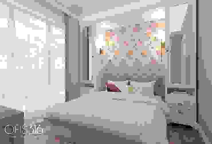OFİS316 TASARIM PROJE UYGULAMA – Asmalıbahçeşehir Evi:  tarz Yatak Odası, Eklektik