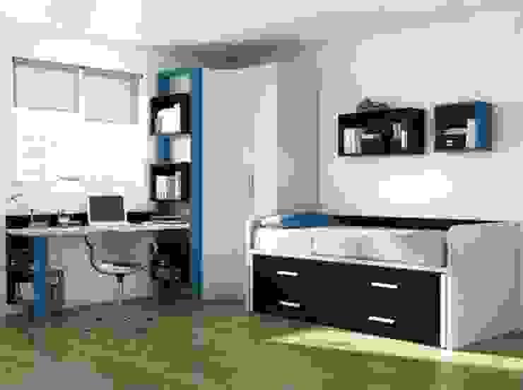 Mobiliario para dormitorio juvenil en Palencia Dormitorios infantiles de estilo moderno de MUEBLES GATON VALLE, amueblamiento de espacios en Palencia hacemos que los ambientes que den acogedores con encanto y un estilo diferente Moderno