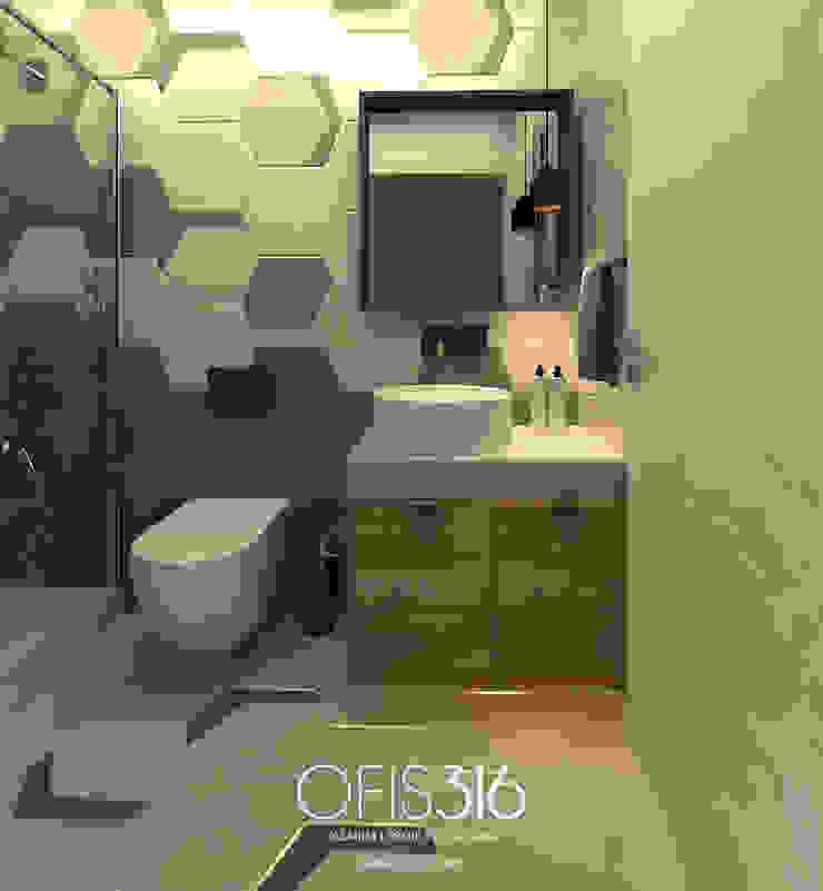 Misafir Banyo Eklektik Banyo OFİS316 TASARIM PROJE UYGULAMA Eklektik