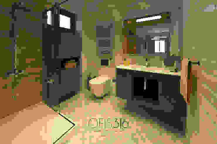 Ebeveyn Banyo // 3D Eklektik Banyo OFİS316 TASARIM PROJE UYGULAMA Eklektik