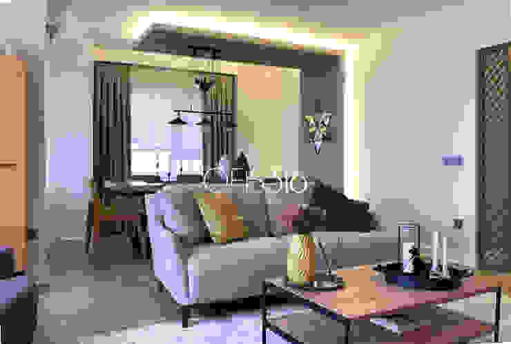 Salon Eklektik Oturma Odası OFİS316 TASARIM PROJE UYGULAMA Eklektik