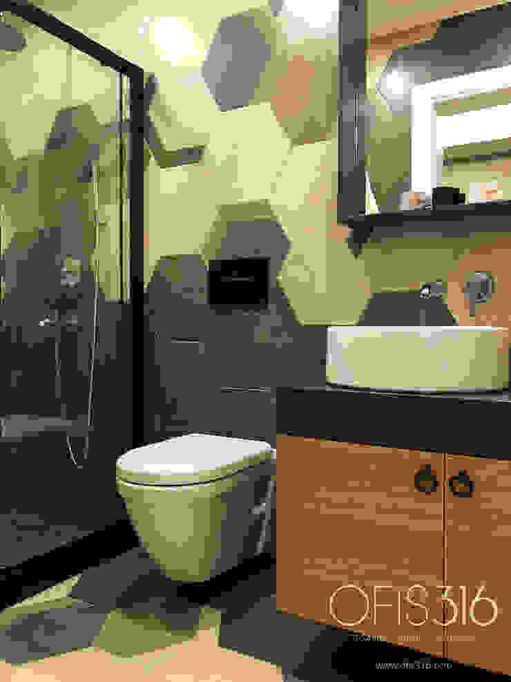 Misafir Banyosu Eklektik Banyo OFİS316 TASARIM PROJE UYGULAMA Eklektik