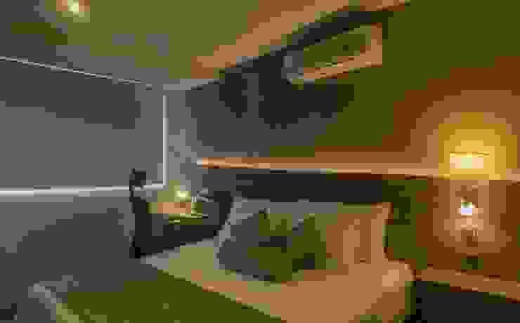 Remodelacion de habitación con iluminación y mobiliario de CAMALEON DISEÑOS Minimalista