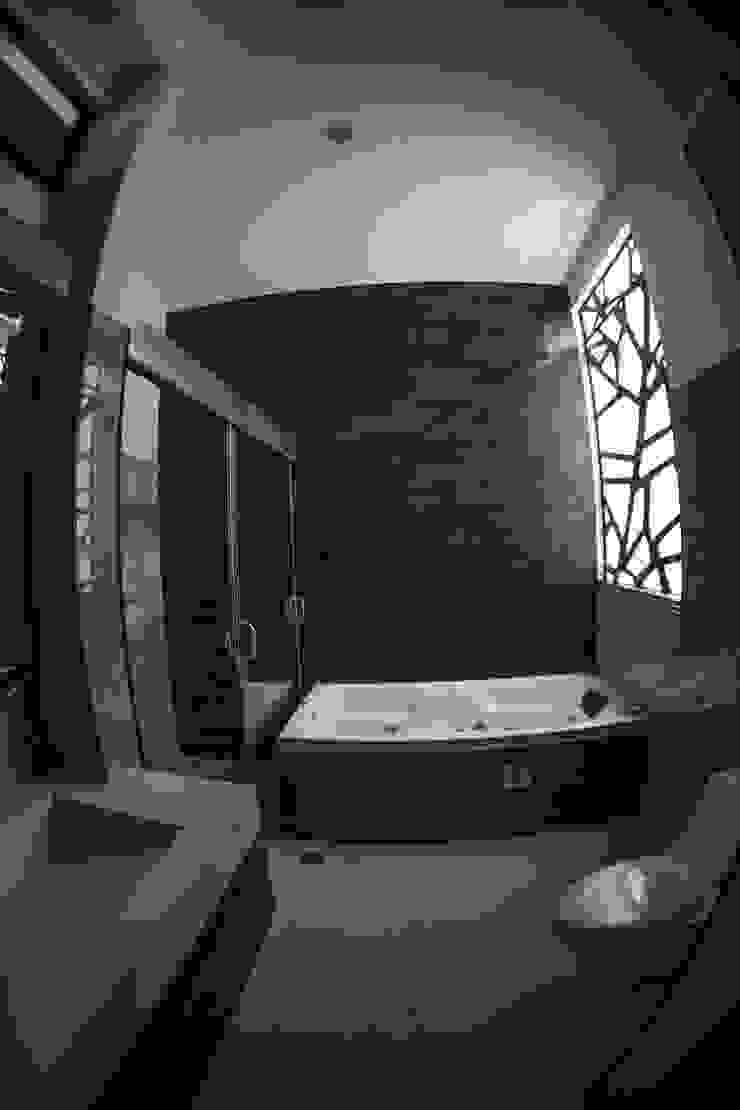 Modern Banyo GRUPO WALL ARQUITECTURA Y DISEÑO SA DE CV Modern Granit