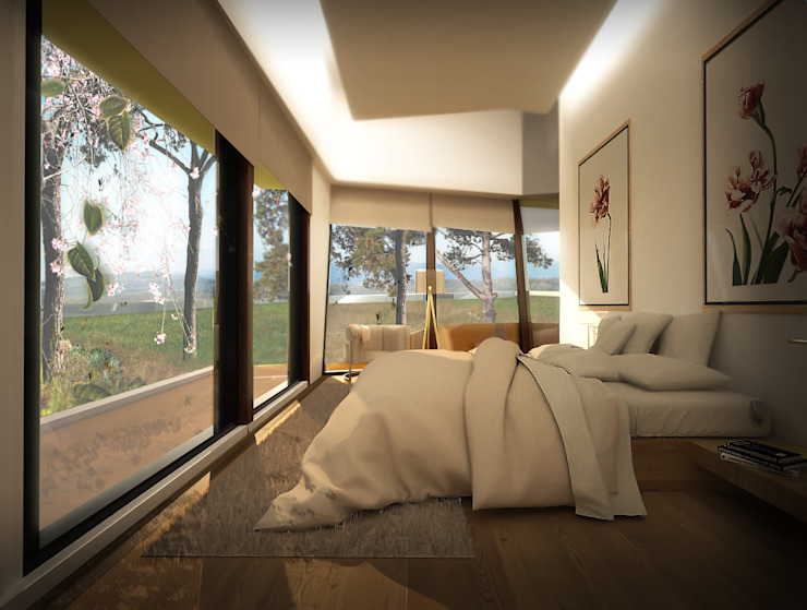Office of Feeling Architecture, Lda Modern style bedroom